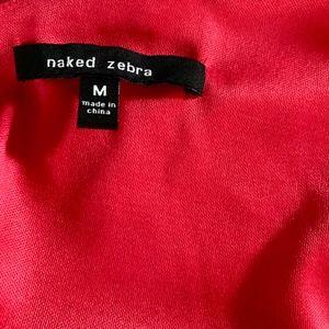 Naked Zebra Tops - Naked Zebra Red Top: SZ M